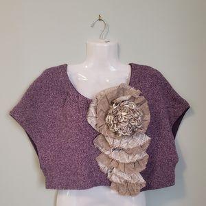 Anthropologie Moth Adler Purple Sweater/Shrug